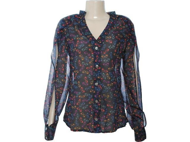 Camisa Feminina Dopping 011902509 Preto/color