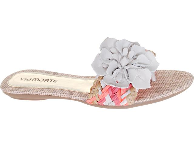 Tamanco Feminino Via Marte 12-15401 Off White