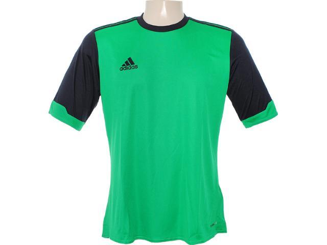 Camiseta Masculina Adidas X27722 Verde/preto