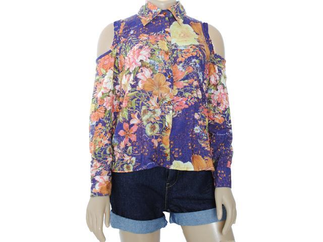 Camisa Feminina Moikana 8166 Florido