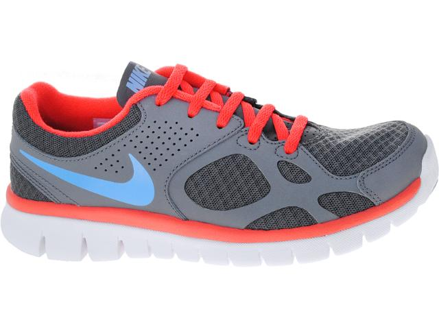 Tênis Feminino Nike 512108-013 Flex 2012 rn Chumbo/coral