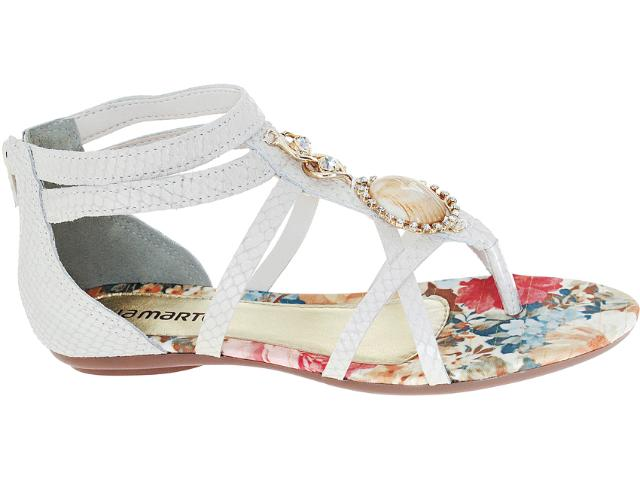 Sandália Feminina Via Marte 12-15303 Off White
