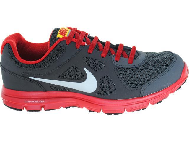 Tênis Masculino Nike 488216-010 Lunar Forever Chumbo/vermelho