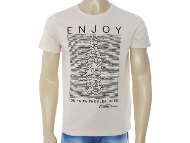 Camiseta Masculina Coca-cola Clothing 353203208 Bege