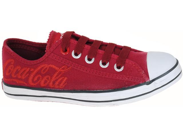 Tênis Feminino Coca-cola Shoes Cc0160 Vermelho