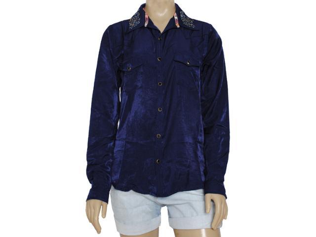 Camisa Feminina Moikana 8161 Azul