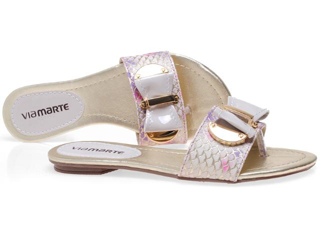 Tamanco Feminino Via Marte 12-18701 Lilas/off White
