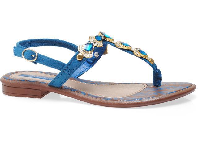 Sandália Feminina Grendene Grendha 16584 Marrom/azul/dourado