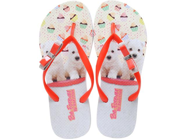 Chinelo Feminino Rafitthy 11.31702 Orange Poodles Off Laranja