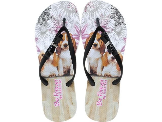 Chinelo Feminino Rafitthy 11.31702 Retrô Beagle Off Preto