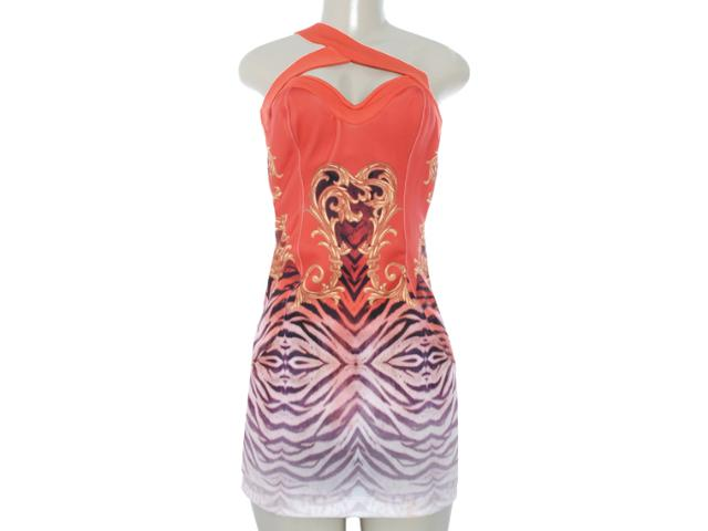 Vestido Feminino Moikana 8024 Laranja