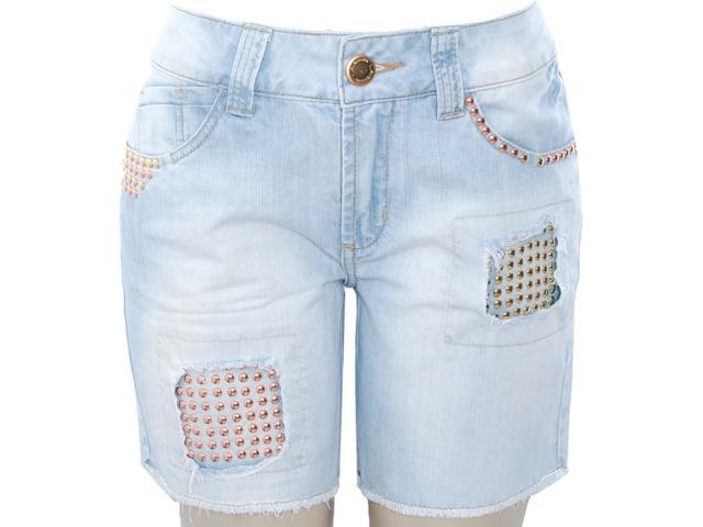 Bermuda Feminina Lado Avesso 81115 Jeans
