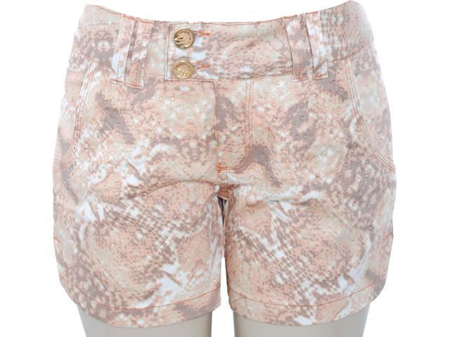 Short Feminino Lado Avesso 81335 Laranja Coral