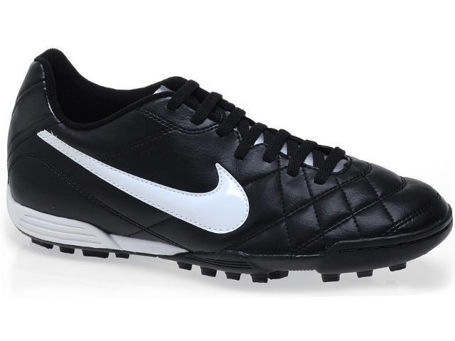 Tênis Masculino Nike 509040-010 Tiempo Rio tf Preto/branco