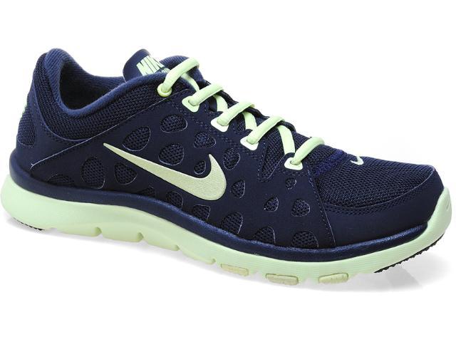 Tênis Feminino Nike 537509-400 Flex Supreme tr Marinho/verde Claro