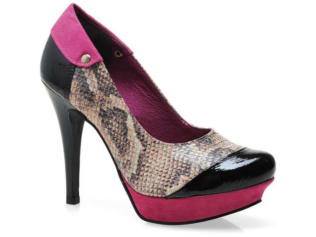 Sapato Feminino Tanara 3084 Pto/pink/natural