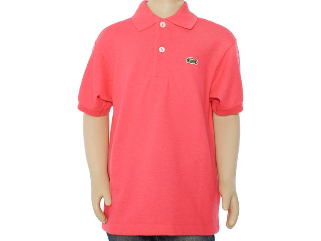 Camisa Polo Masc Infantil Lacoste L1812 Vermelho
