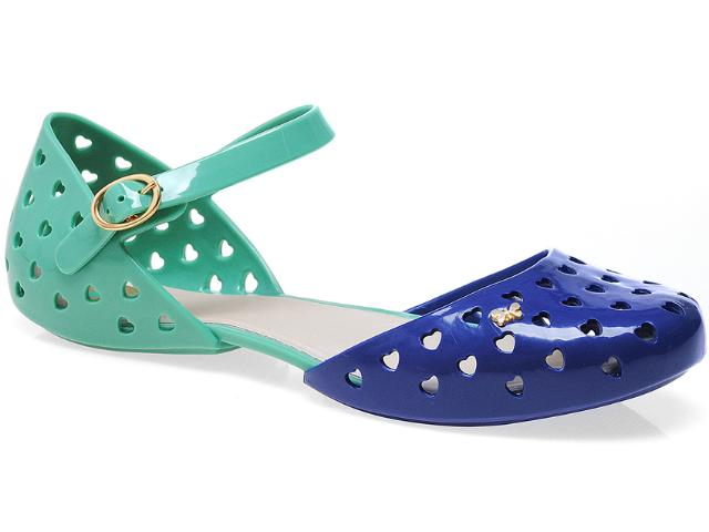 Sapatilha Feminina Grendene Zaxy 16603 Azul/verde