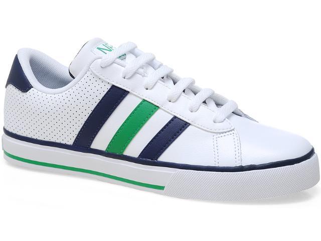 Tênis Masculino Adidas Q26026 se Daily Vulc Branco/marinho/verde
