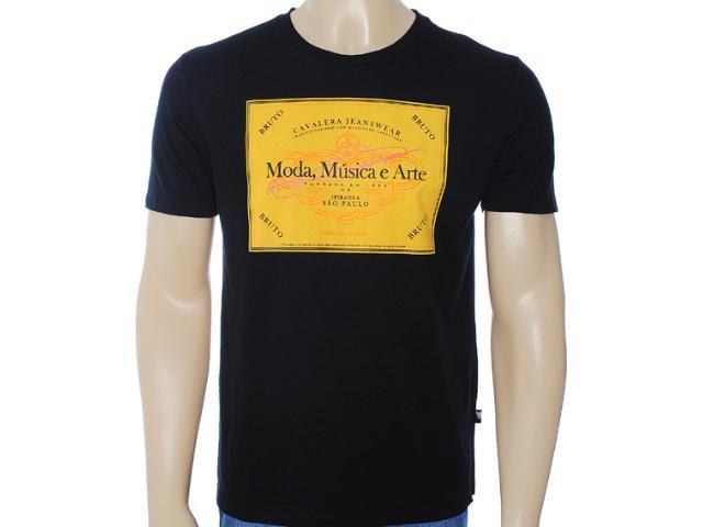 Camiseta Masculina Cavalera Clothing 01.01.6712 Preto