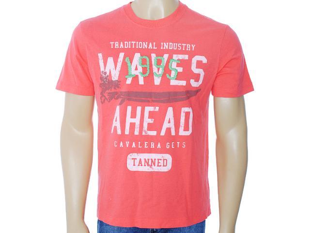 Camiseta Masculina Cavalera Clothing 01.01.6220 Coral