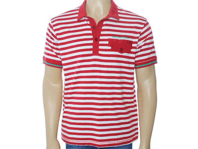 Camisa Masculina Coca-cola Clothing 253200423 Listrado Bordo