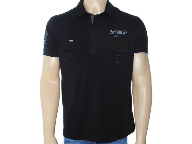 Camisa Masculina Broken Rules 120014 Preto