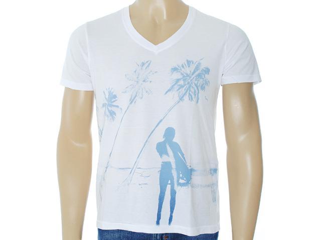Camiseta Masculina Dzarm 6byp Noa10 Branco
