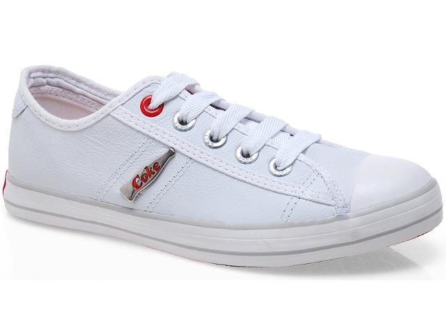 Tênis Feminino Coca-cola Shoes Cc0129 Branco