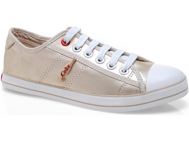 Tênis Feminino Coca-cola Shoes Cc0129 Ouro