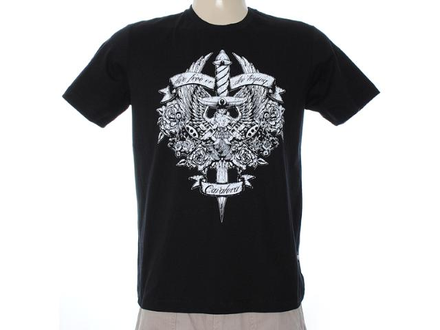 Camiseta Masculina Cavalera Clothing 01.01.6938 Preto
