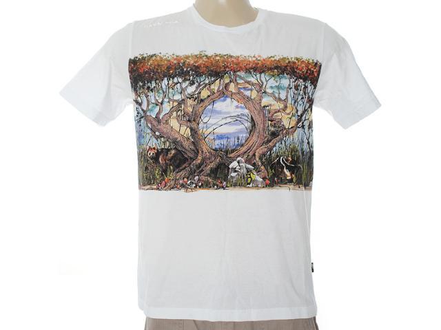 Camiseta Masculina Cavalera Clothing 01.01.6458 Branco