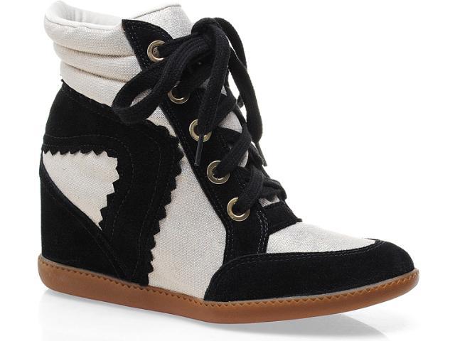 Sneaker Feminino Hetane 1201201 Preto/off White
