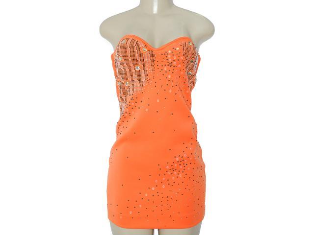 Vestido Feminino Moikana 8033 Laranja