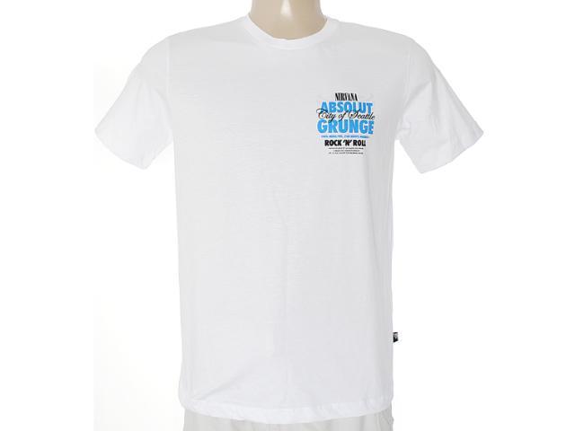 Camiseta Masculina Cavalera Clothing 01.01.6855 Branco