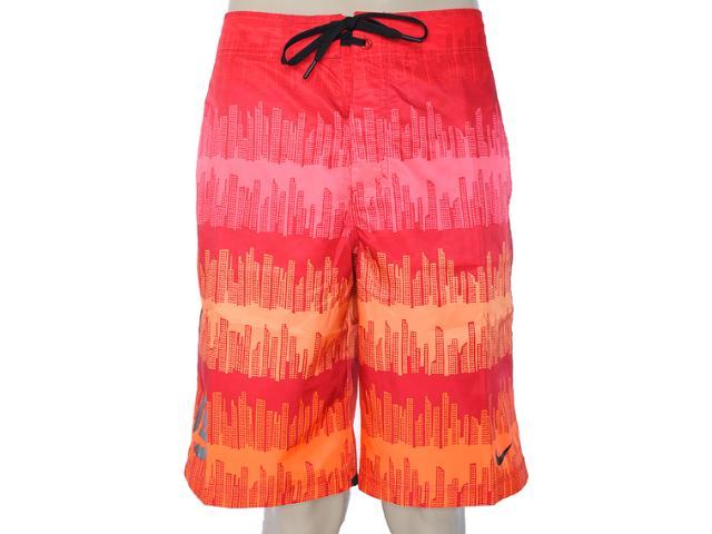 Bermuda Masculina Nike 505372-640 Vermelho/laranja