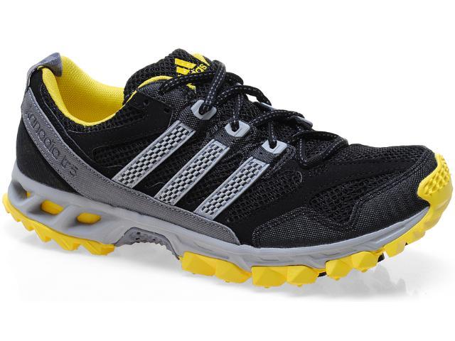 Tênis Masculino Adidas Q22380 Kanadia 5 tr m Preto/cinza/amarelo