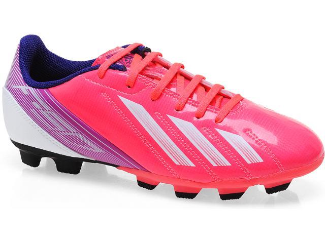Chuteira Feminina Adidas G65436 f5 Trx fg w Pink/roxo/branco