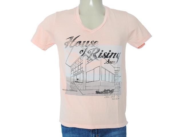 Camiseta Masculina Dzarm 6byu Lkv10 Salmão