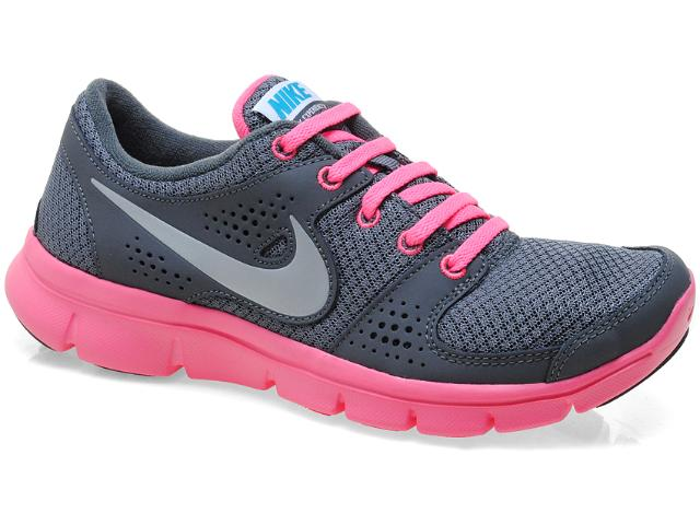 Tênis Feminino Nike 525754-007 Flex Experience rn Chumbo/rosa