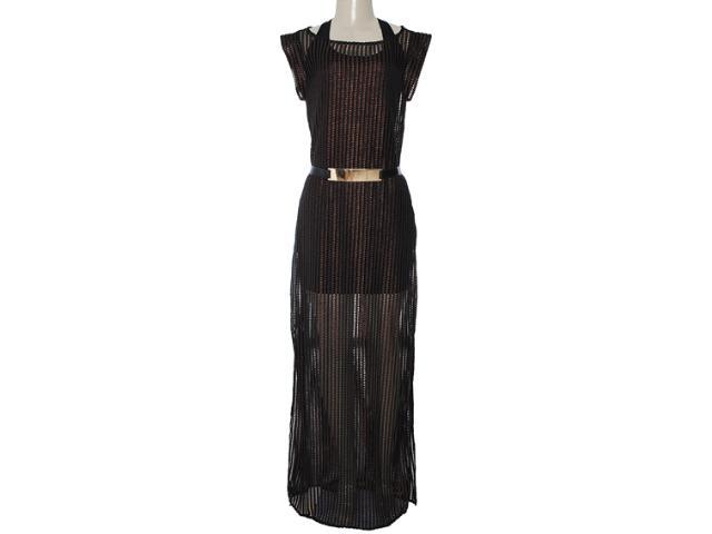 Vestido Feminino Lado Avesso 82723 Preto