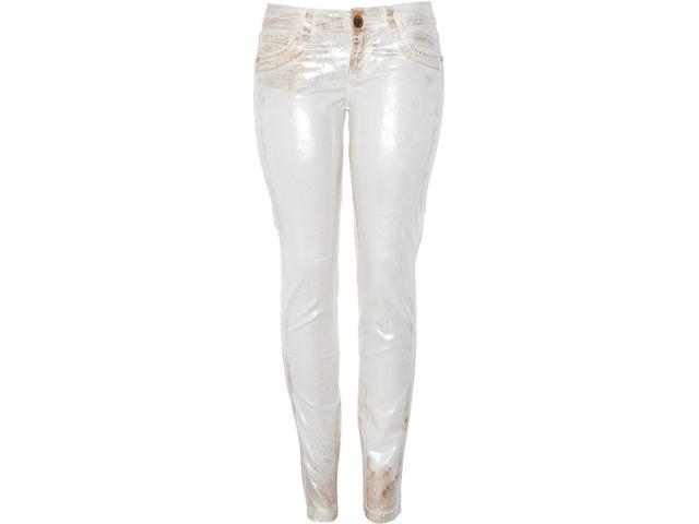 Calça Feminina Lado Avesso 82139 Off White/dourado