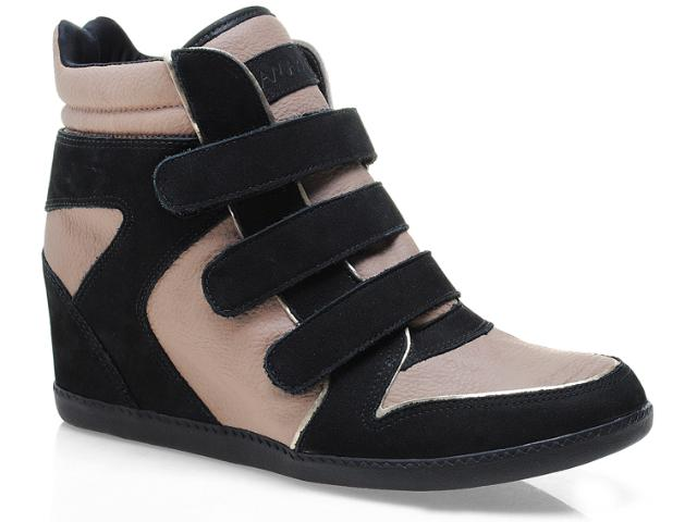 Sneaker Feminino Ramarim 12-70202 Preto/avelã