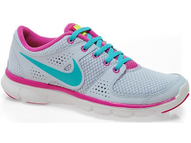 Tênis Feminino Nike 525754-013 Flex Experience Cinza/pink/verde