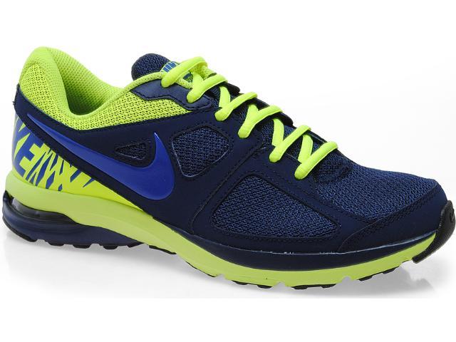 Tênis Masculino Nike 554903-400 Air Futurun Marinho/limão