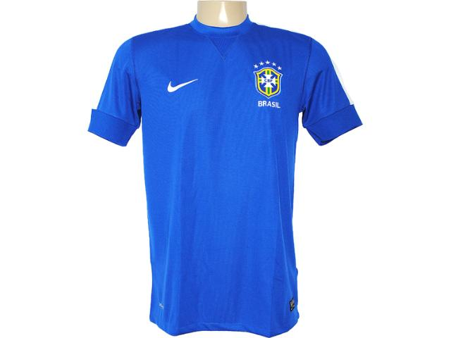 Camiseta Masculina Nike 519254-493 Cbf ss Away Repl Azul/branco