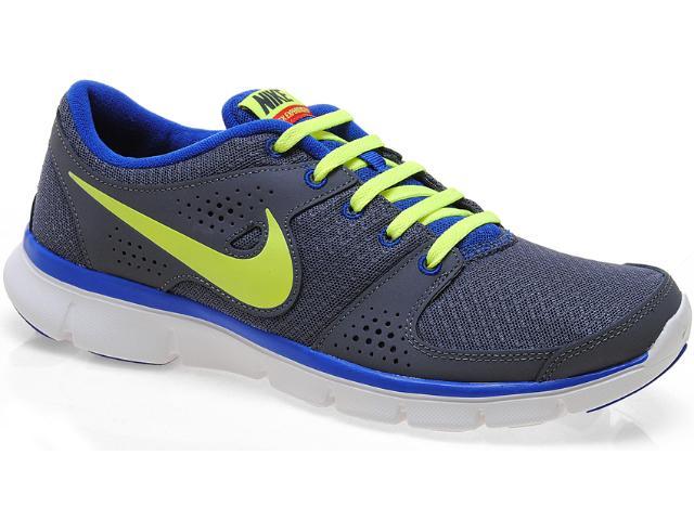 Tênis Masculino Nike 525762-014 Flex Experience r Chumbo/marinho/limão