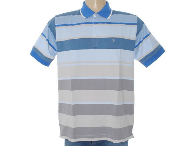 Camisa Masculina Individual 306.00302.001 Azul/cinza
