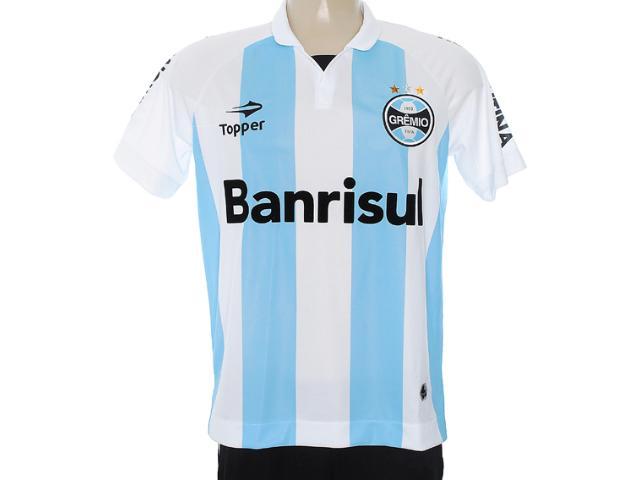 Camiseta Masculina Grêmio C1095m Branco/azul Claro