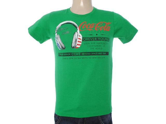 Camiseta Masculina Coca-cola Clothing 353203327 Verde